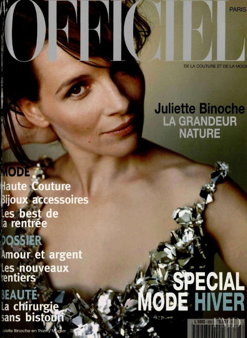 Juliette Binoche featured on the L\'Officiel France cover from September 1998