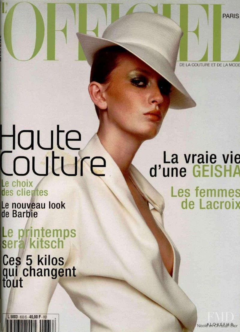 featured on the L\'Officiel France cover from March 1999