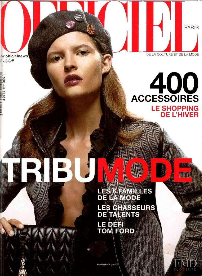 featured on the L\'Officiel France cover from October 2000