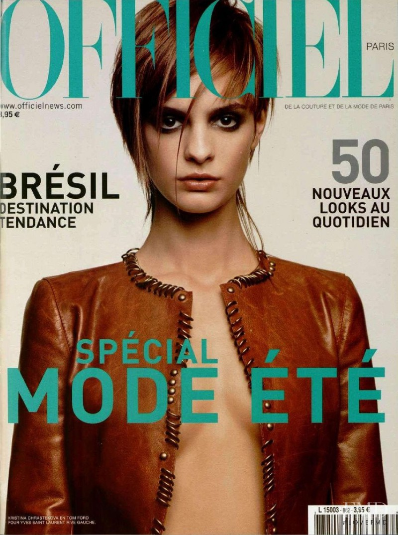 Kristina Chrastekova featured on the L\'Officiel France cover from February 2002