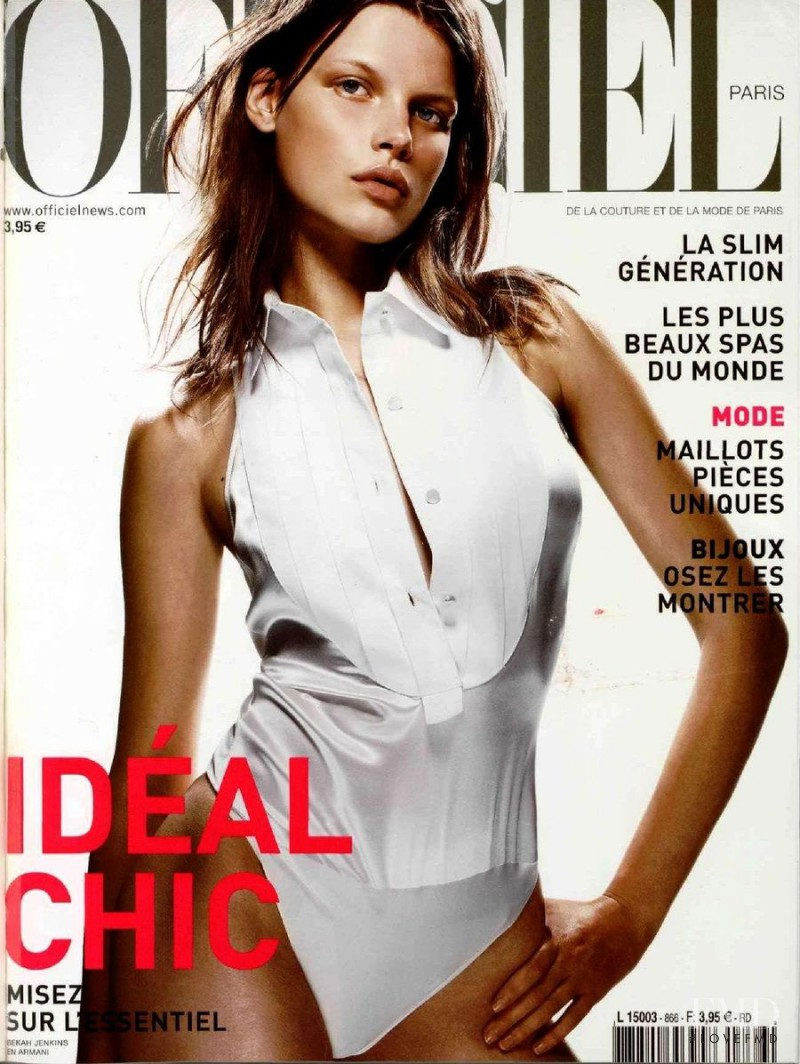 Bekah Jenkins featured on the L\'Officiel France cover from June 2002