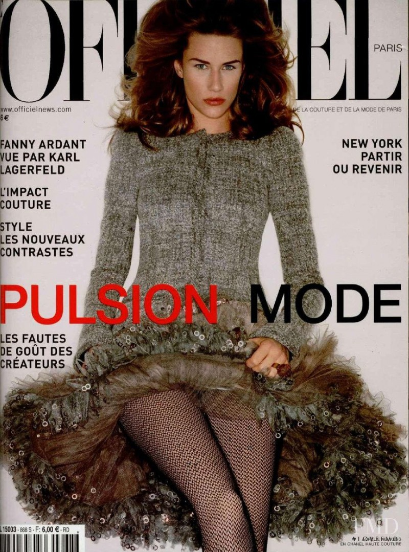 Aurelie Neukens featured on the L\'Officiel France cover from September 2002