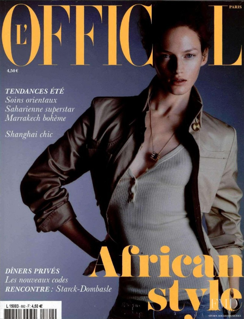 Vivien Solari featured on the L\'Officiel France cover from February 2005