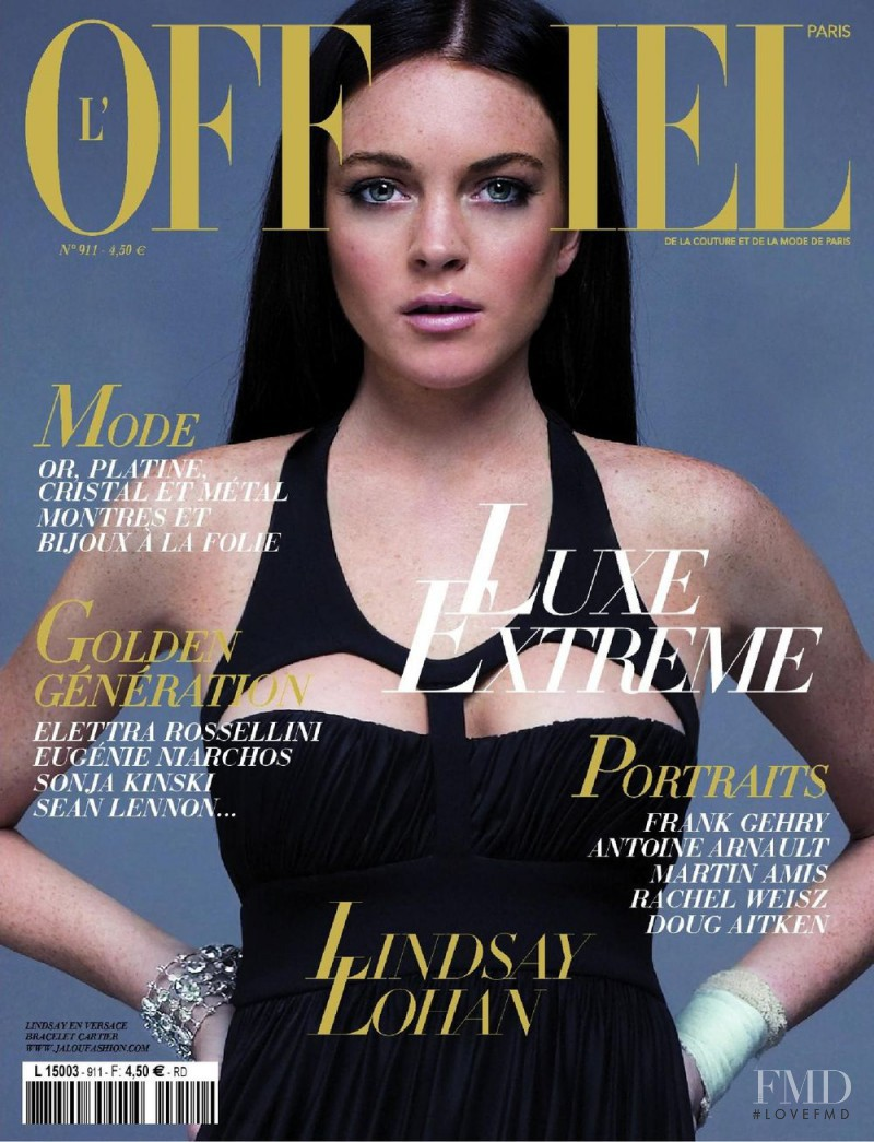 Lindsay Lohan featured on the L\'Officiel France cover from December 2006