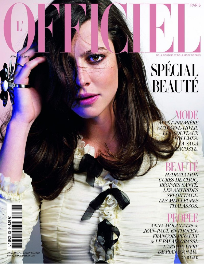 Anna Mouglalis featured on the L\'Officiel France cover from May 2006
