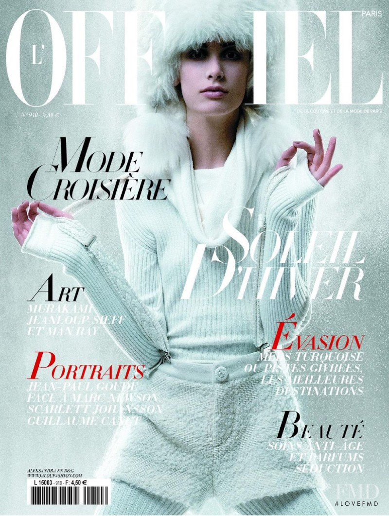 Aleksandra Orbeck Nilsen featured on the L\'Officiel France cover from November 2006