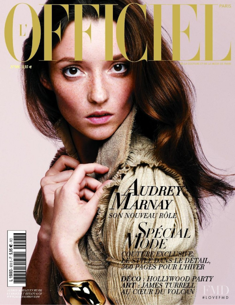Audrey Marnay featured on the L\'Officiel France cover from September 2006