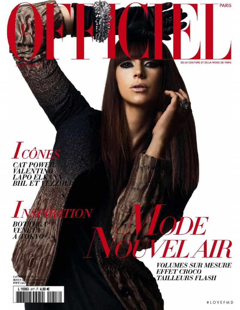 Cat Power featured on the L\'Officiel France cover from August 2007