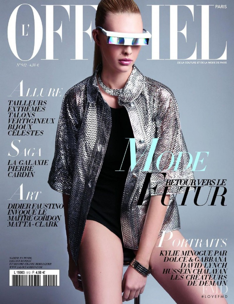 Nadine Wolfbeiszer featured on the L\'Officiel France cover from February 2007