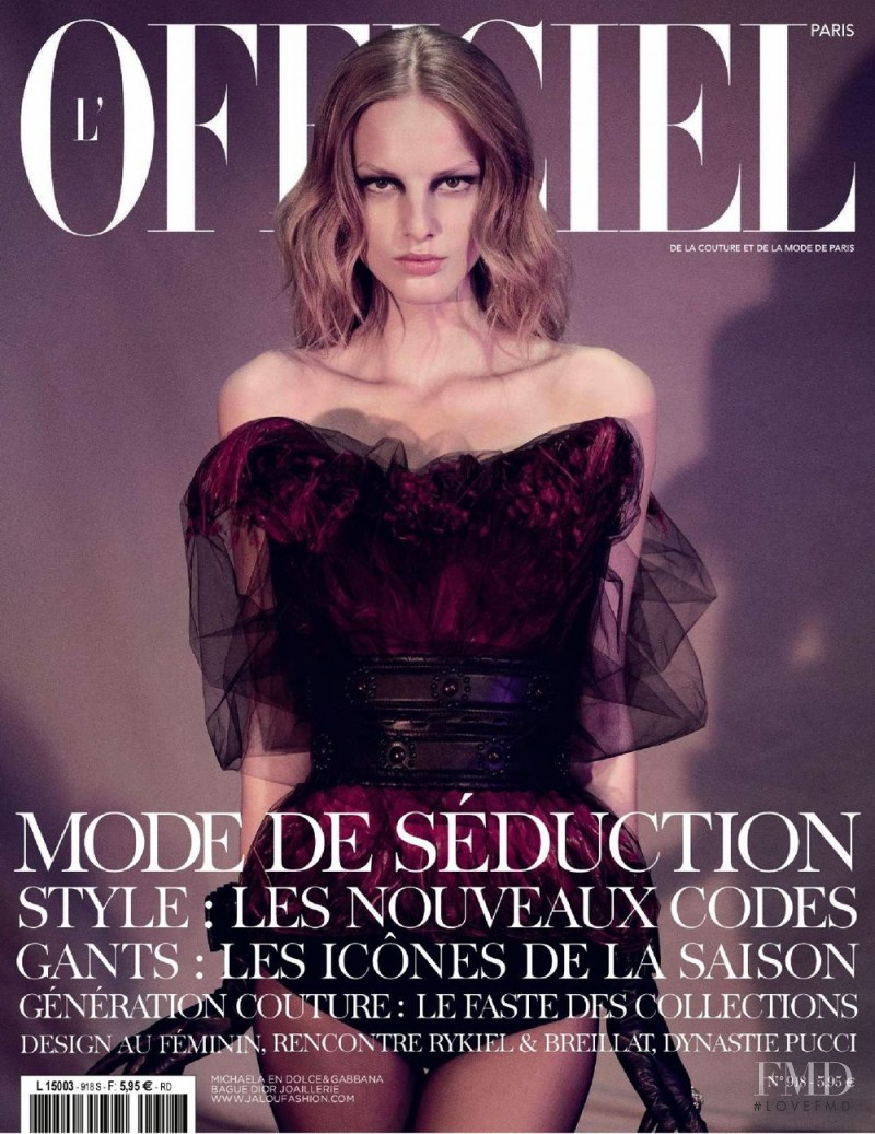 Michaela Kocianova featured on the L\'Officiel France cover from September 2007
