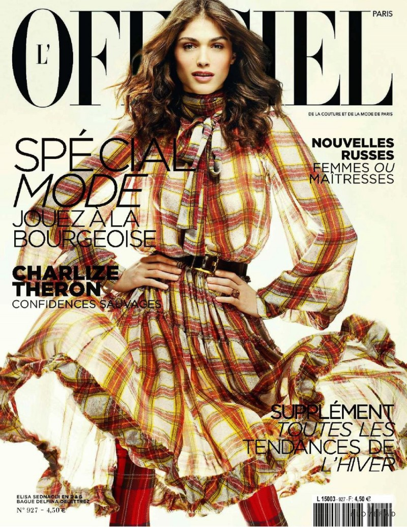 Elisa Sednaoui featured on the L\'Officiel France cover from July 2008