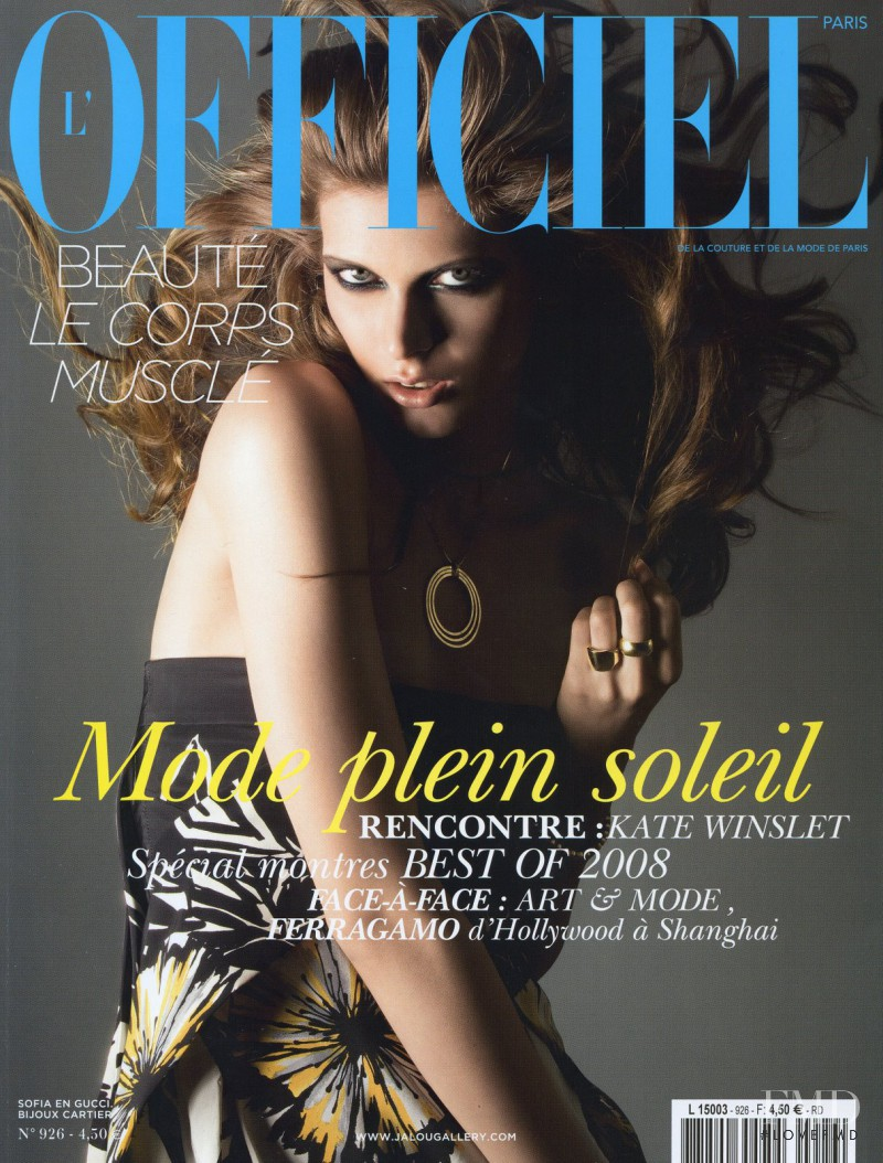 Sofia Bartos featured on the L\'Officiel France cover from June 2008
