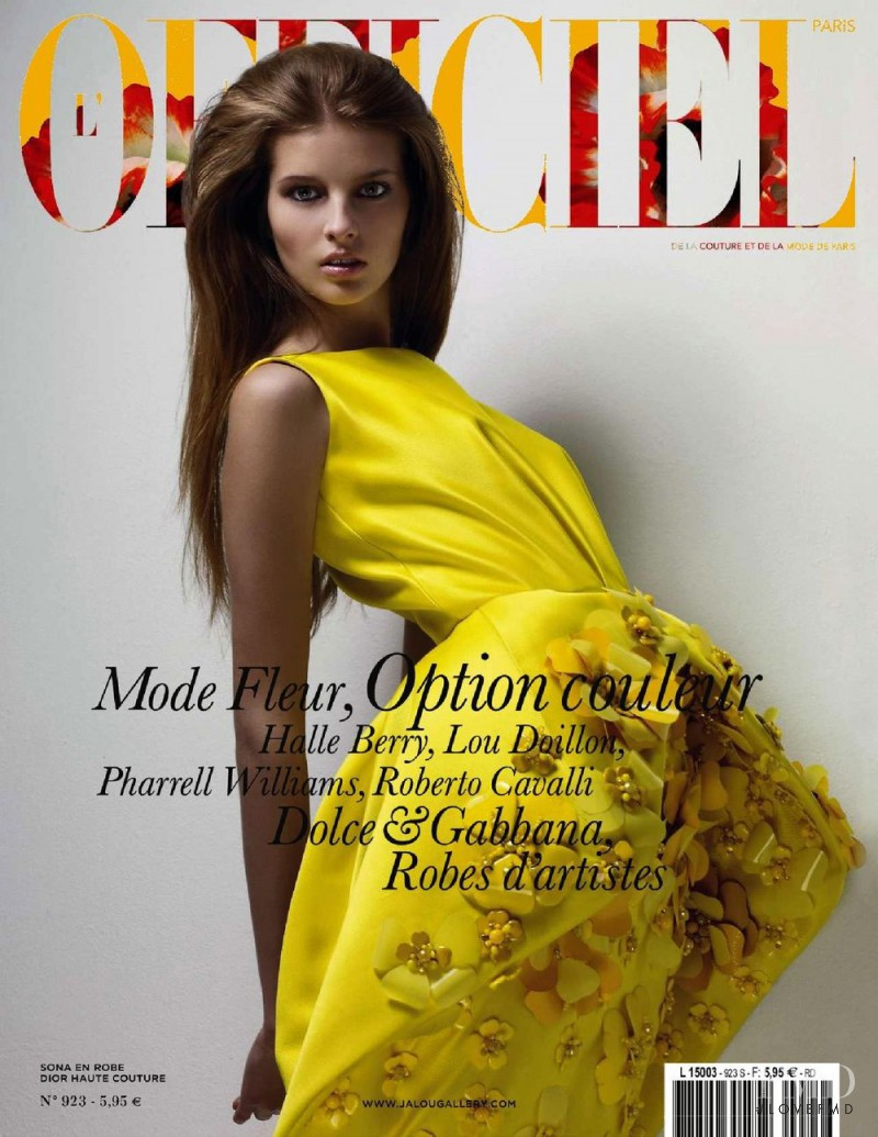 Sona Matufkova featured on the L\'Officiel France cover from March 2008