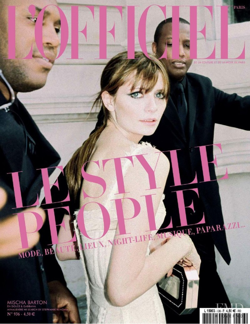 Mischa Barton featured on the L\'Officiel France cover from June 2009