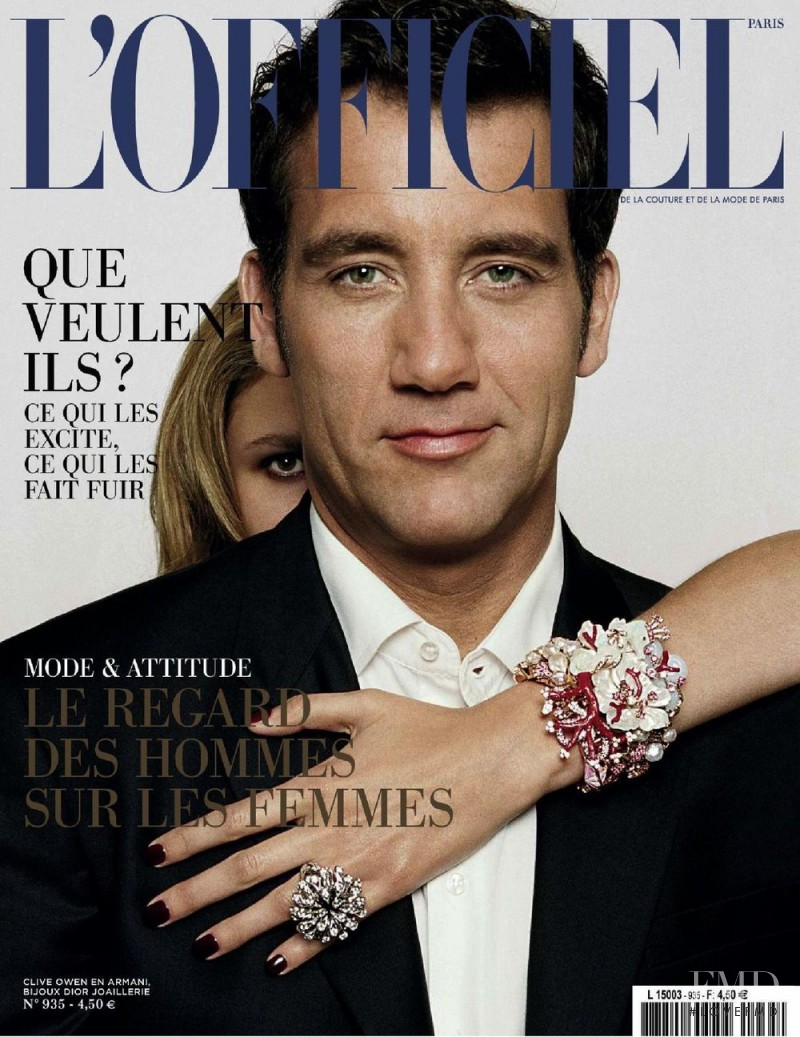 Clive Owen featured on the L\'Officiel France cover from May 2009