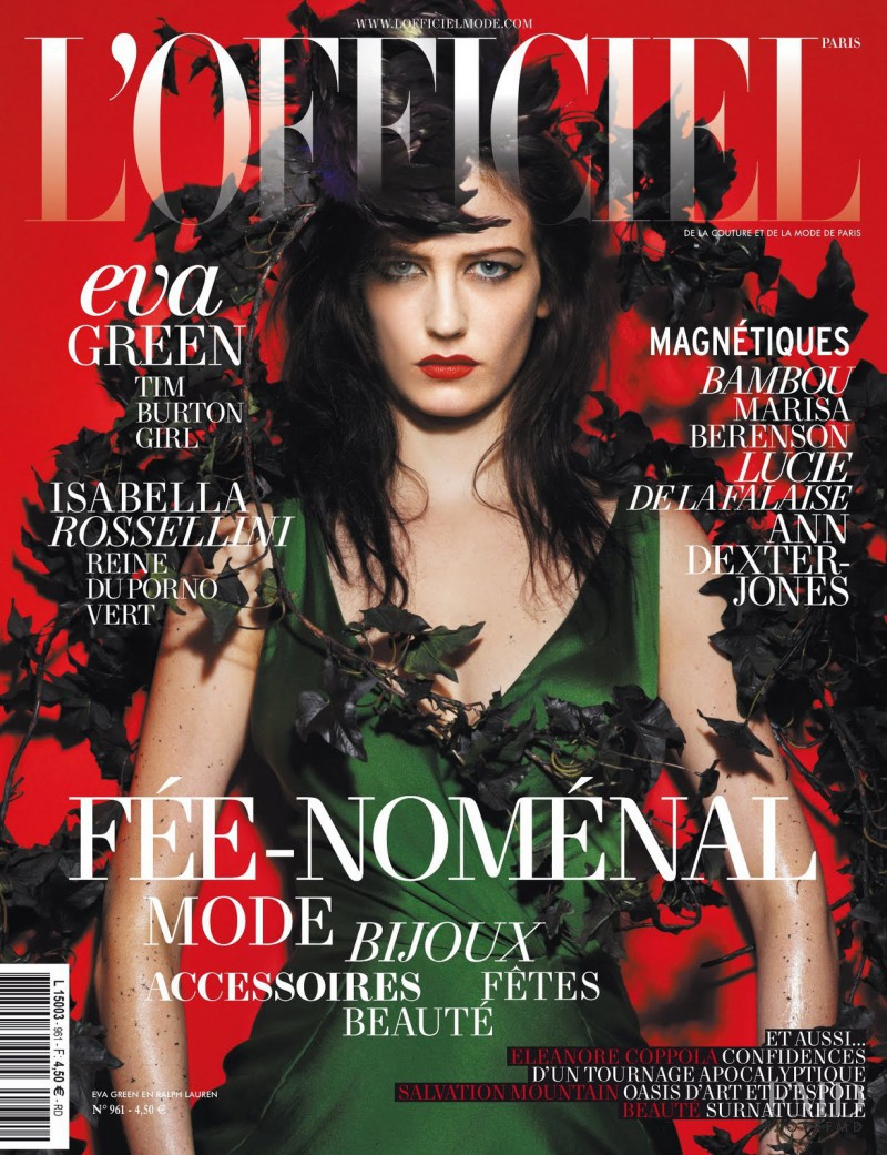 Eva Green featured on the L\'Officiel France cover from December 2011