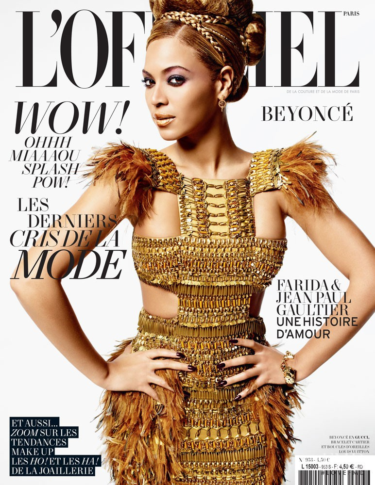 Beyonce featured on the L\'Officiel France cover from March 2011