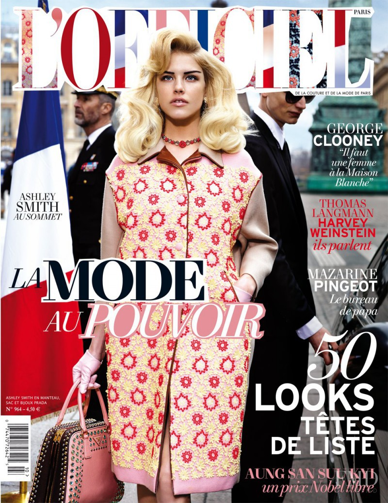 Ashley Smith featured on the L\'Officiel France cover from April 2012