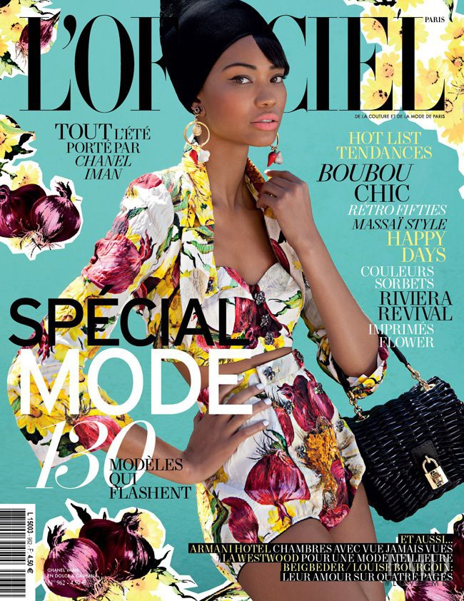 Chanel Iman featured on the L\'Officiel France cover from February 2012