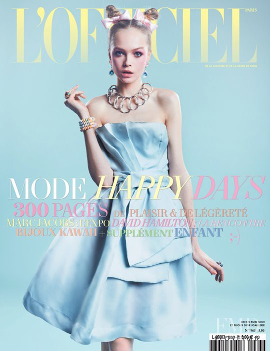 Siri Tollerod featured on the L\'Officiel France cover from March 2012