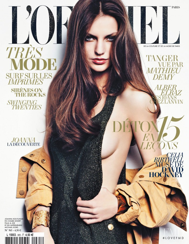 Joanna Koltuniak featured on the L\'Officiel France cover from May 2012
