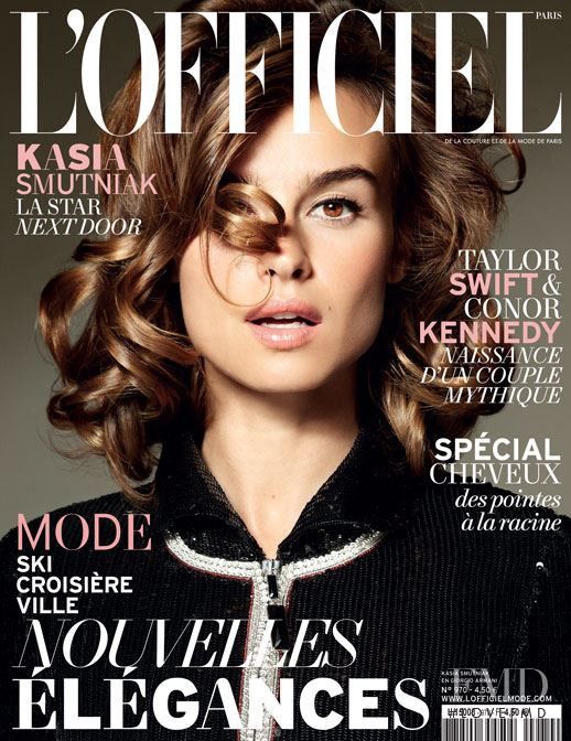 Kasia Smutniak featured on the L\'Officiel France cover from November 2012