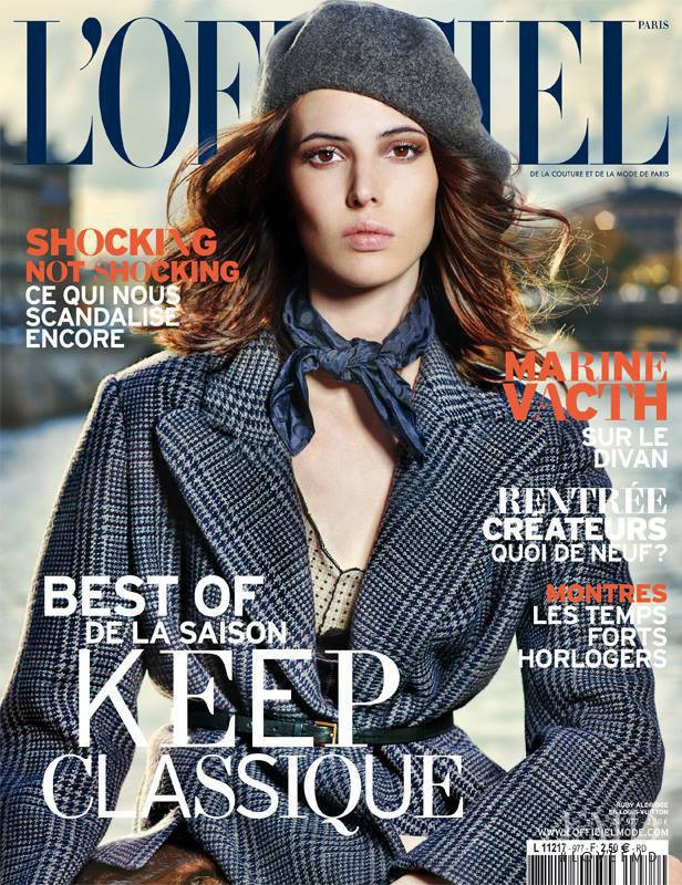 Ruby Aldridge featured on the L\'Officiel France cover from August 2013