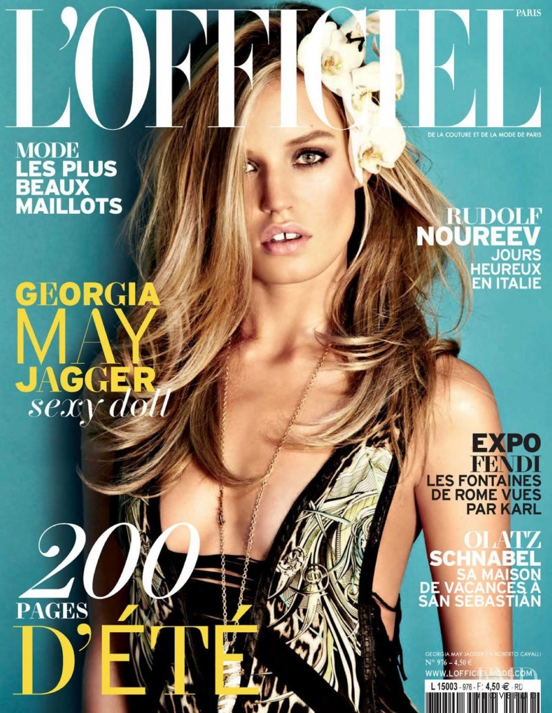 Georgia May Jagger featured on the L\'Officiel France cover from June 2013