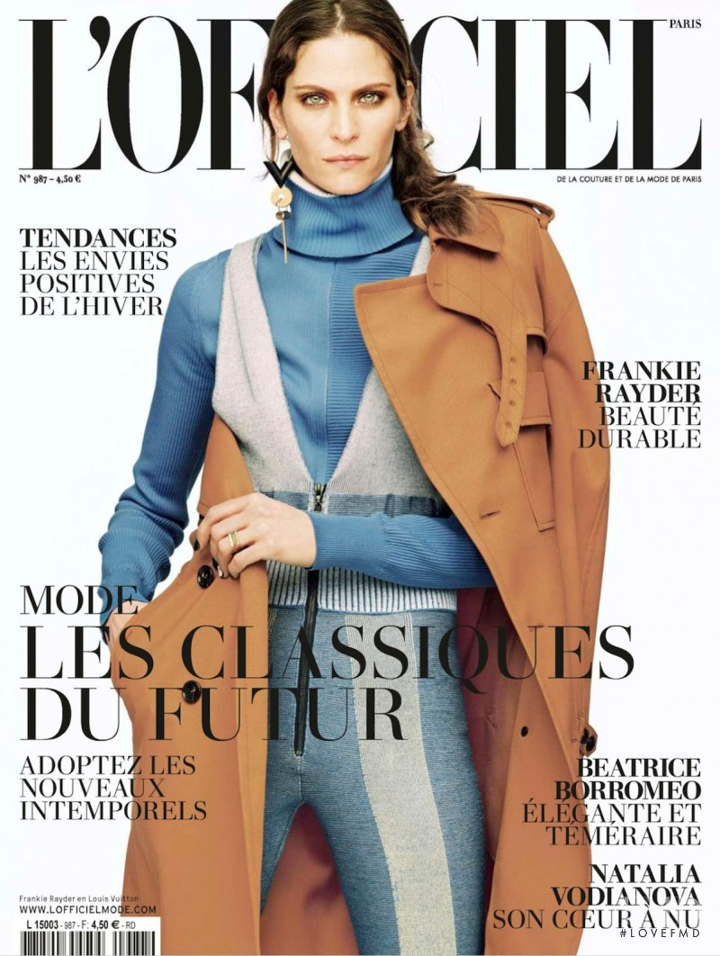 Frankie Rayder featured on the L\'Officiel France cover from August 2014