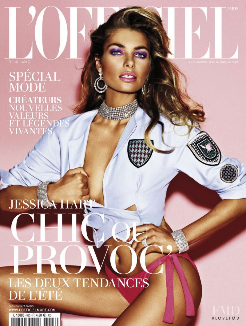 Jessica Hart featured on the L\'Officiel France cover from March 2014