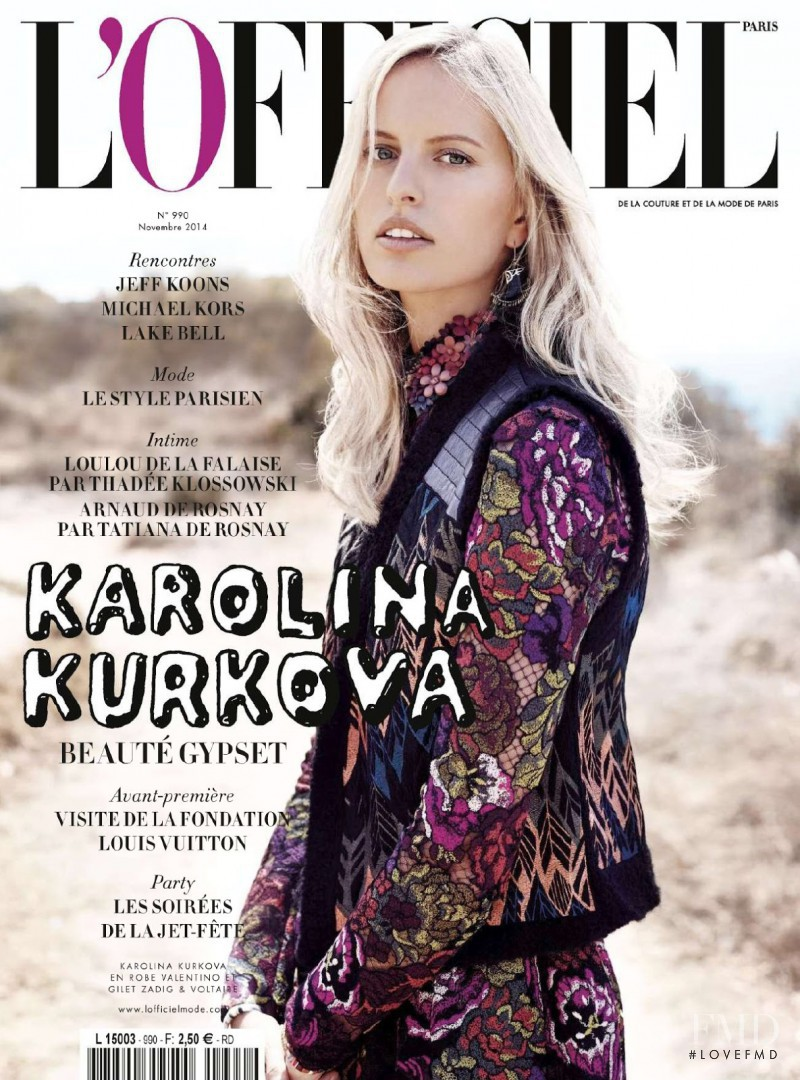 Karolina Kurkova featured on the L\'Officiel France cover from November 2014