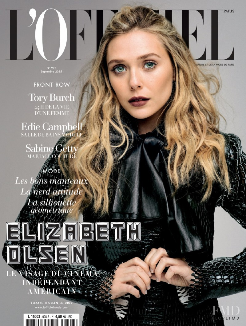 Elizabeth Olsen featured on the L\'Officiel France cover from September 2015