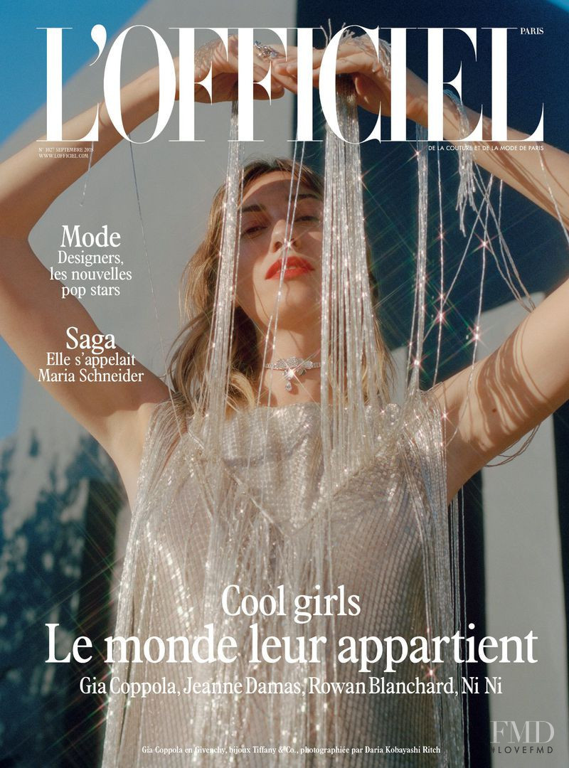 Gia Coppola featured on the L\'Officiel France cover from September 2018