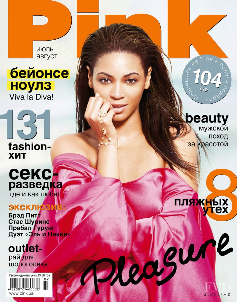 Beyoncé Knowles featured on the Pink Ukraine cover from July 2011