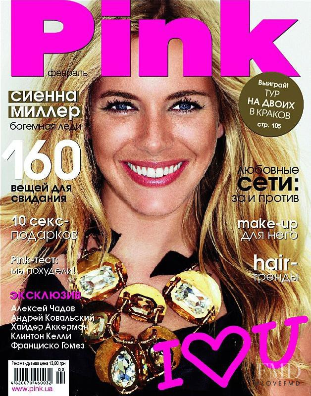 Sienna Miller featured on the Pink Ukraine cover from February 2012