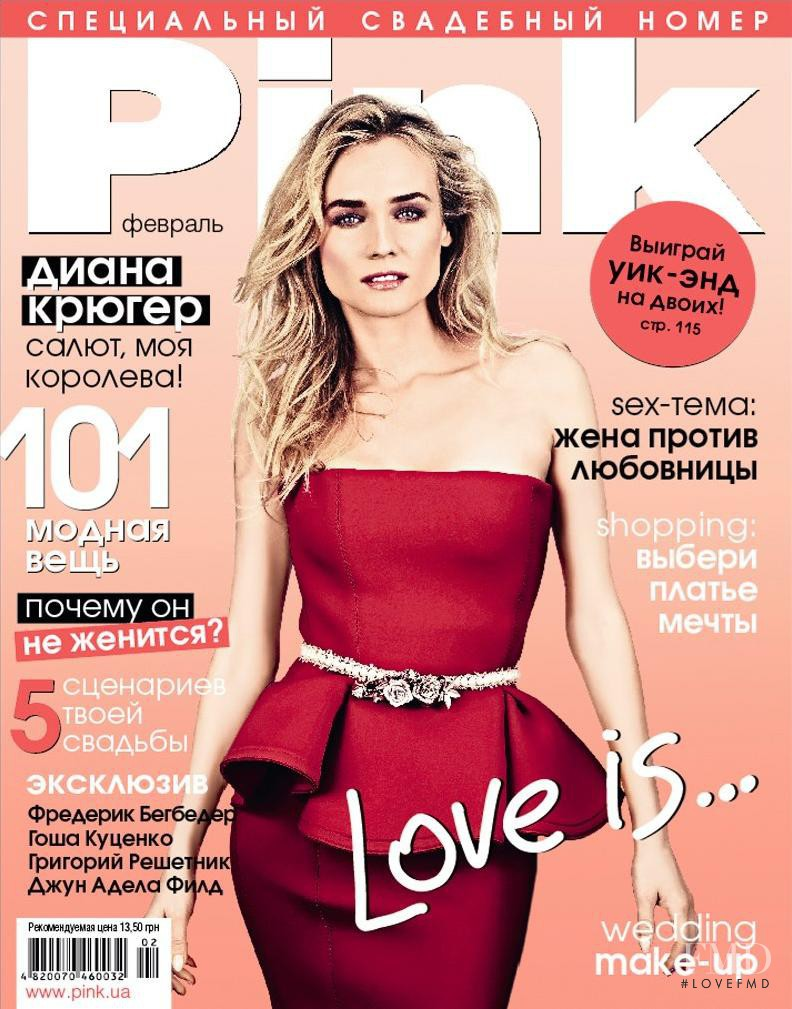 Diane Heidkruger featured on the Pink Ukraine cover from February 2013