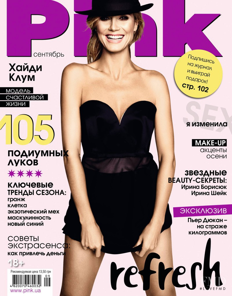 Heidi Klum featured on the Pink Ukraine cover from September 2013