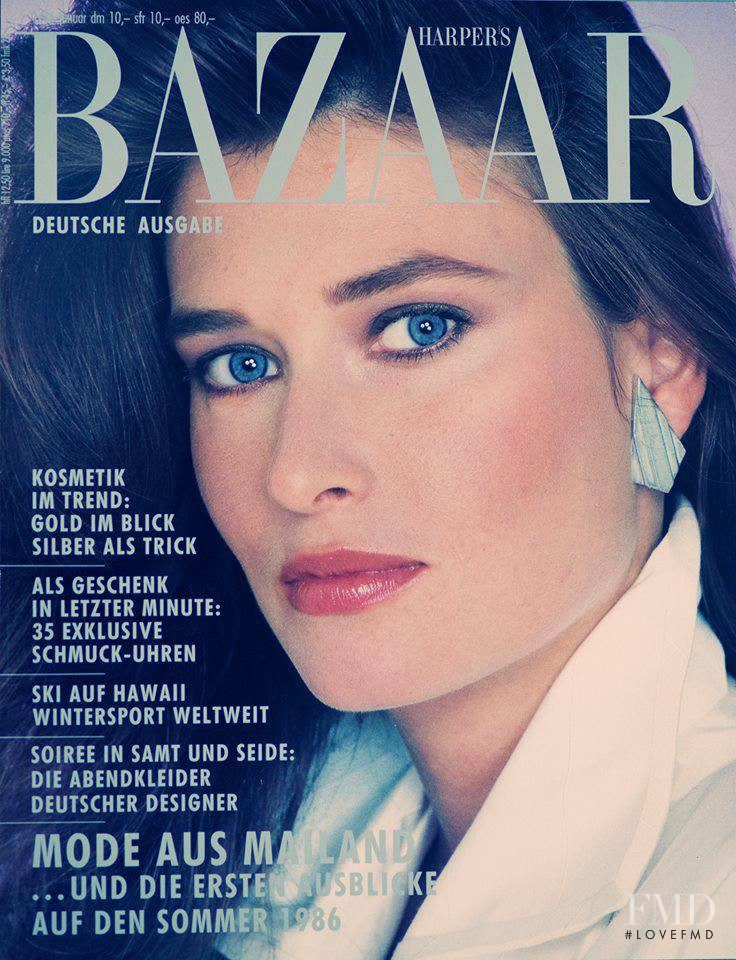 Rosemary McGrotha featured on the Harper\'s Bazaar Germany cover from January 1986