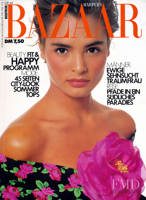 Talisa Soto featured on the Harper\'s Bazaar Germany cover from April 1988