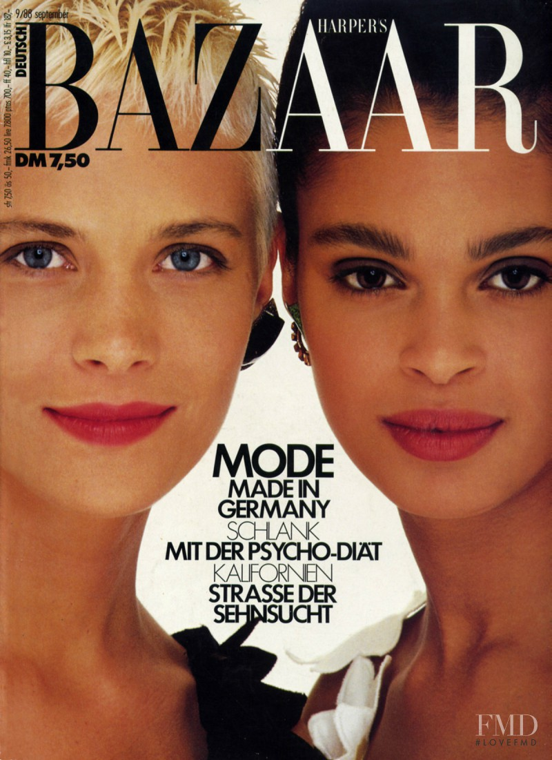 Stacey Lowe featured on the Harper\'s Bazaar Germany cover from September 1988