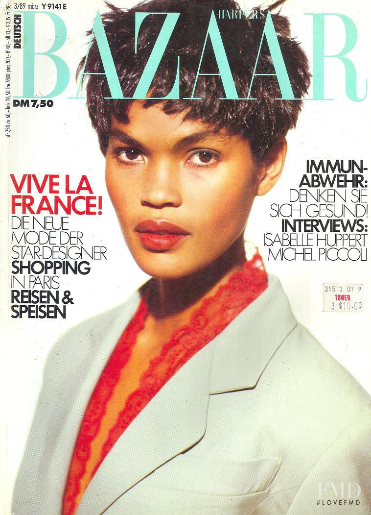 Gail O\'Neill featured on the Harper\'s Bazaar Germany cover from March 1989