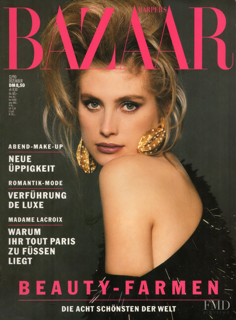 Tove Johannson featured on the Harper\'s Bazaar Germany cover from December 1990