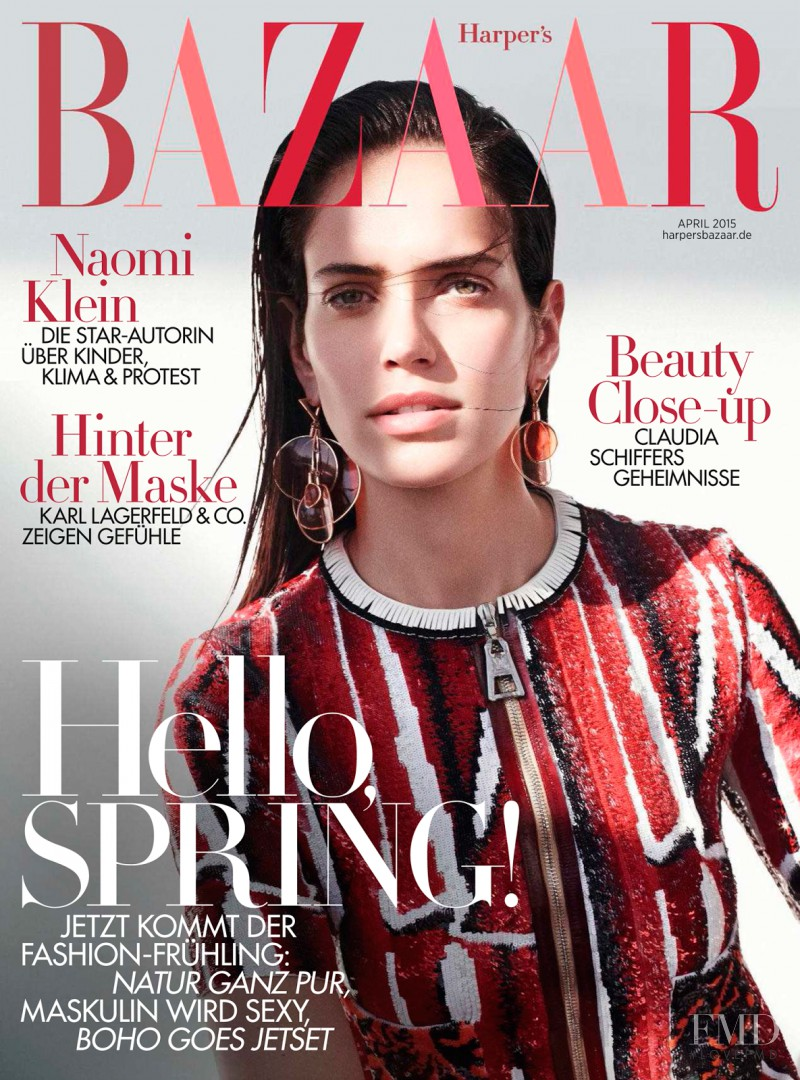 Amanda Brandão Wellsh featured on the Harper\'s Bazaar Germany cover from April 2015