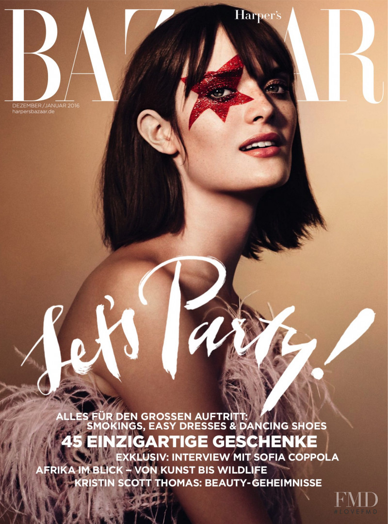 Sam Rollinson featured on the Harper\'s Bazaar Germany cover from December 2015