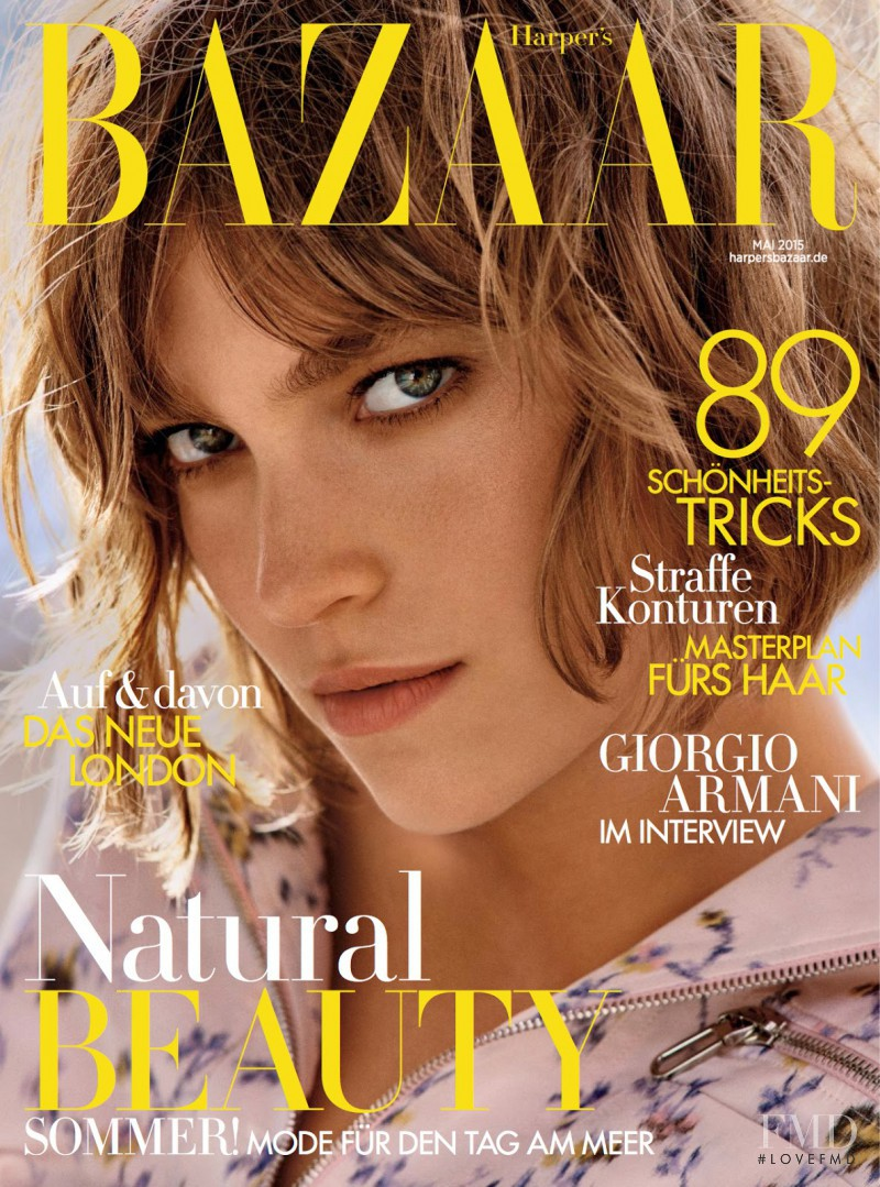 Arizona Muse featured on the Harper\'s Bazaar Germany cover from May 2015