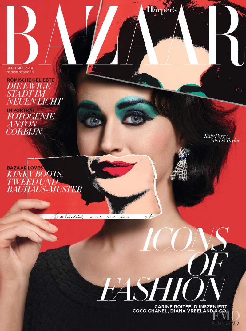 featured on the Harper\'s Bazaar Germany cover from September 2015