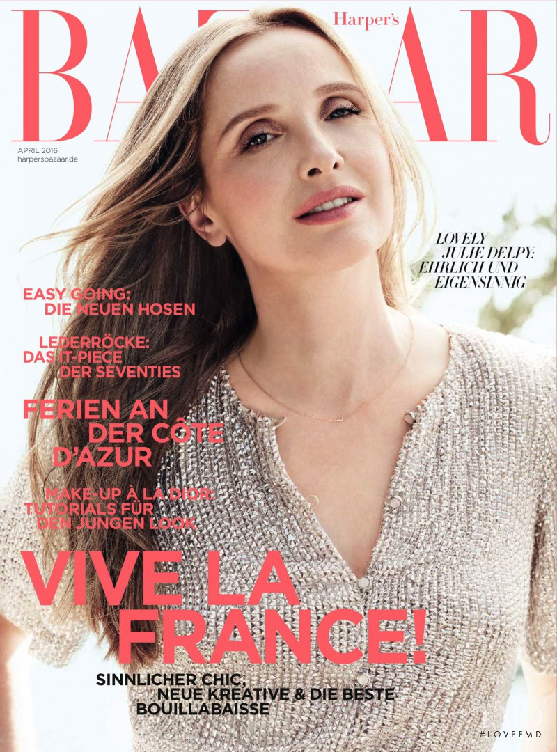 featured on the Harper\'s Bazaar Germany cover from April 2016