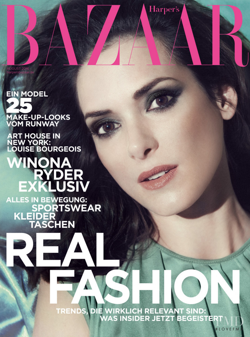 Winona Ryder featured on the Harper\'s Bazaar Germany cover from August 2016