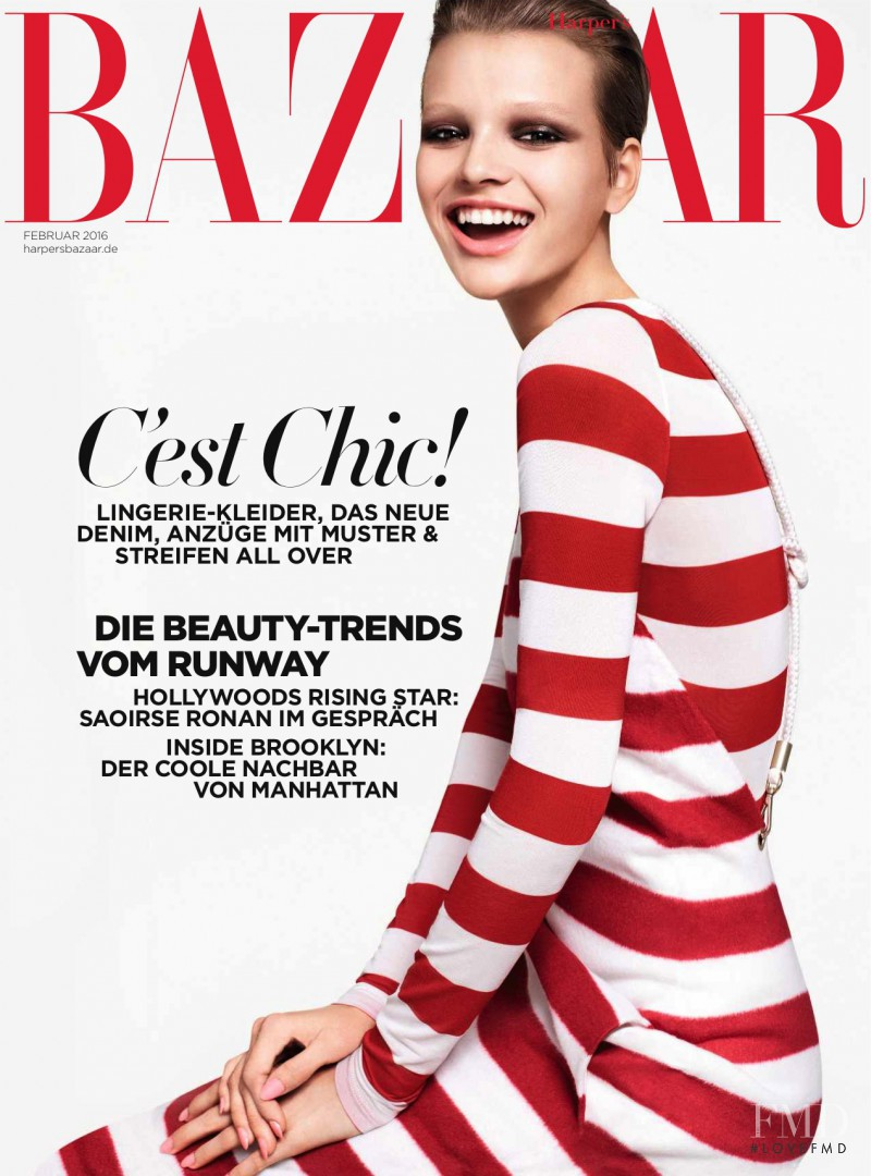 featured on the Harper\'s Bazaar Germany cover from February 2016