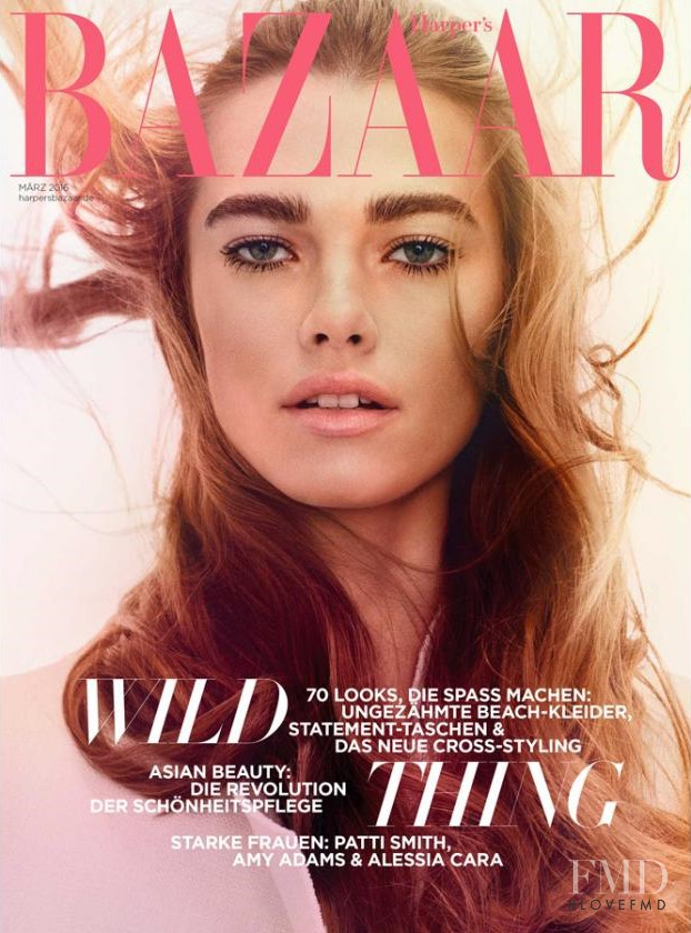 Mathilde Brandi featured on the Harper\'s Bazaar Germany cover from March 2016